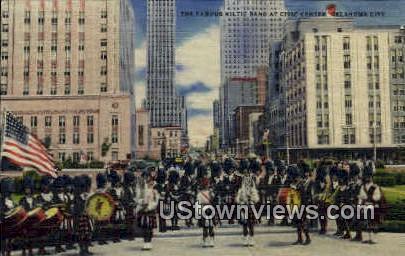 Kiltie Band At Civic Center - Oklahoma City Postcards, Oklahoma OK Postcard