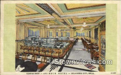 Coffee Shop, Skirvin Hotel - Oklahoma City Postcards, Oklahoma OK Postcard