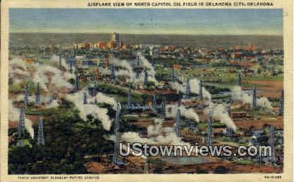 Capitol Oil Field - Oklahoma City Postcards, Oklahoma OK Postcard