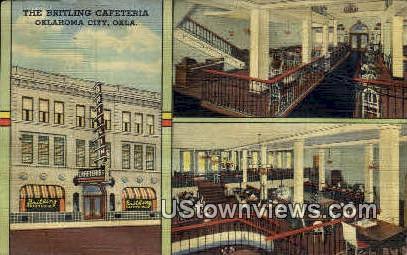 The Britling Cafeteria - Oklahoma City Postcards, Oklahoma OK Postcard