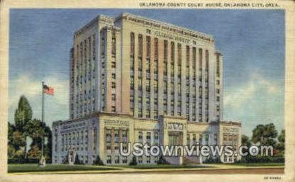 County Court House - Oklahoma City Postcards, Oklahoma OK Postcard