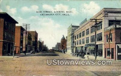 Main Street - Oklahoma City Postcards, Oklahoma OK Postcard