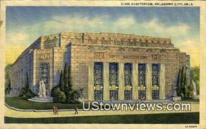 Civic Auditorium  - Oklahoma City Postcards, Oklahoma OK Postcard