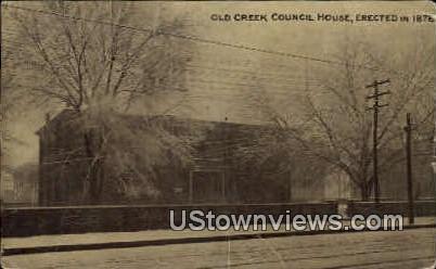 Old Creek Council House - Oklahoma City Postcards, Oklahoma OK Postcard
