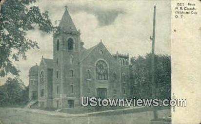 M. E. Church - Oklahoma City Postcards, Oklahoma OK Postcard