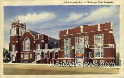 First Baptist Church - Oklahoma City Postcards, Oklahoma OK Postcard