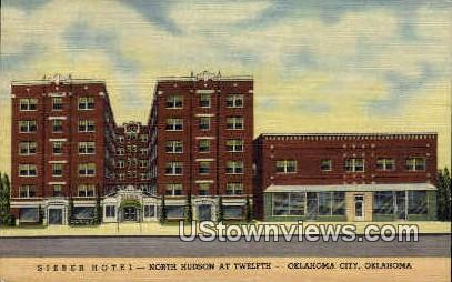 Sieber Hotel - Oklahoma City Postcards, Oklahoma OK Postcard
