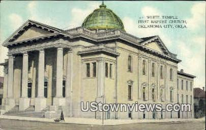 White Temple - Oklahoma City Postcards, Oklahoma OK Postcard