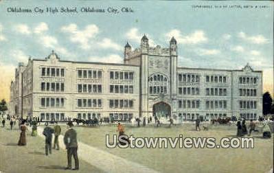 Oklahoma City High School - Oklahoma City Postcards Postcard