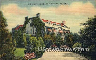 Governor's Mansion - Oklahoma City Postcards, Oklahoma OK Postcard