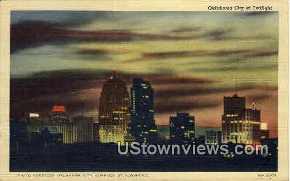 Oklahoma City At Twilight  - Oklahoma City Postcards Postcard