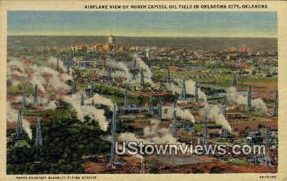 North Capitol Oil Field  - Oklahoma City Postcards, Oklahoma OK Postcard