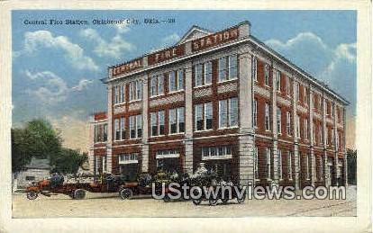 Central Fire Station - Oklahoma City Postcards, Oklahoma OK Postcard