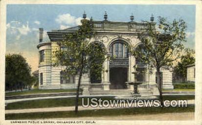 Carnegie Public Library - Oklahoma City Postcards, Oklahoma OK Postcard