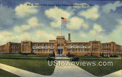 Taft Junior High School - Oklahoma City Postcards, Oklahoma OK Postcard