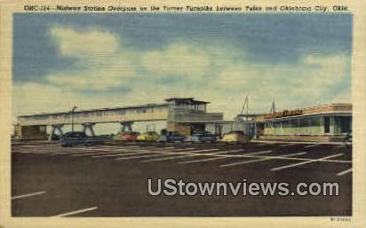 Midway Station Overpass - Oklahoma City Postcards, Oklahoma OK Postcard
