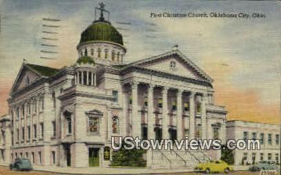 First Christian Church - Oklahoma City Postcards, Oklahoma OK Postcard