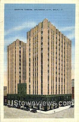 Skirvin Towers  - Oklahoma City Postcards, Oklahoma OK Postcard