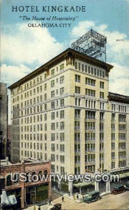 Hotel Kingkade - Oklahoma City Postcards, Oklahoma OK Postcard