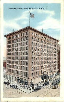 Huckin's Hotel - Oklahoma City Postcards, Oklahoma OK Postcard