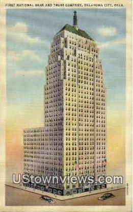 First National Bank - Oklahoma City Postcards, Oklahoma OK Postcard