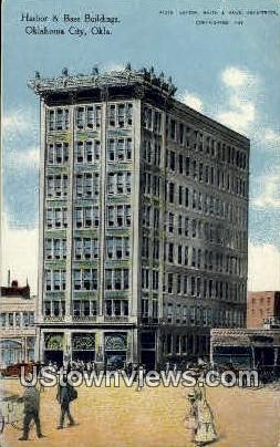 Harbor And Bass Buildings  - Oklahoma City Postcards, Oklahoma OK Postcard