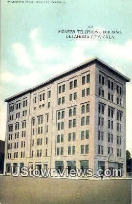 Pioneer Telephone Building - Oklahoma City Postcards, Oklahoma OK Postcard