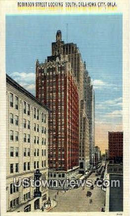 Robinson Street - Oklahoma City Postcards, Oklahoma OK Postcard