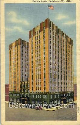Skirvin Tower - Oklahoma City Postcards, Oklahoma OK Postcard