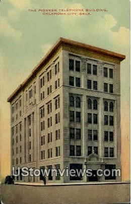 The Pioneer Telephone Building - Oklahoma City Postcards, Oklahoma OK Postcard
