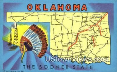 Greetings from, Oklahoma,       :       Greetings from, OK Postcard
