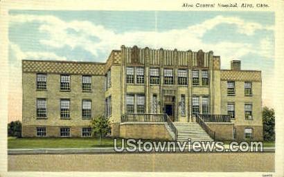 Alva General Hospital - Oklahoma OK Postcard