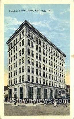 American National Bank - Enid, Oklahoma OK Postcard
