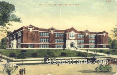 Enid High School - Oklahoma OK Postcard