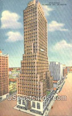 APCO Tower - Oklahoma City Postcards, Oklahoma OK Postcard