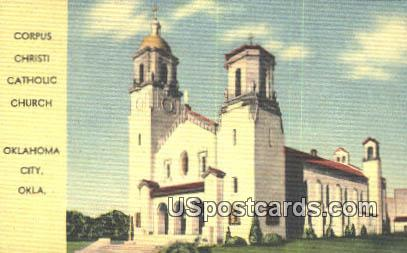 Corpus Christi Catholic Church - Oklahoma City Postcards, Oklahoma OK Postcard