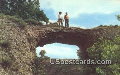 Natural Bridge - Alabaster Caverns State Park, Oklahoma OK Postcard