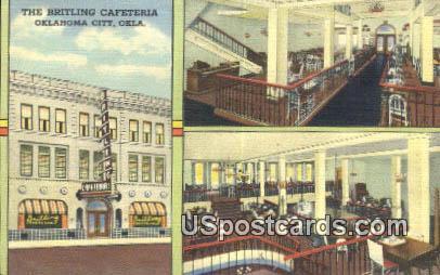Britling Cafeteria - Oklahoma City Postcards, Oklahoma OK Postcard