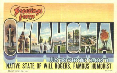 Greetings from, Okla Postcard      ;      Greetings from, OK - Oklahoma OK