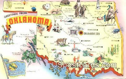 Greetings from, Oklahoma Postcard      ;      Greetings from, Okla
