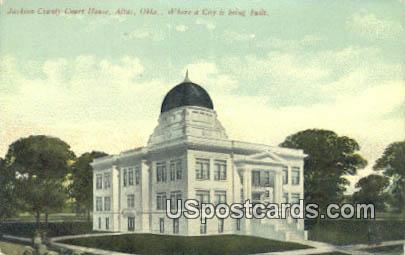 Jackion County Court House - Altus, Oklahoma OK Postcard