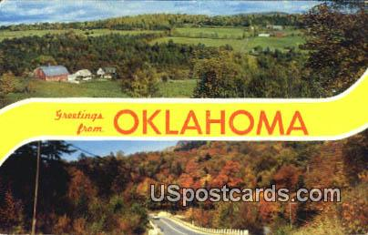 Greetings from, OK Postcard      ;      Greetings from, Oklahoma