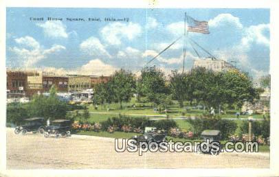 Court House Square - Enid, Oklahoma OK Postcard