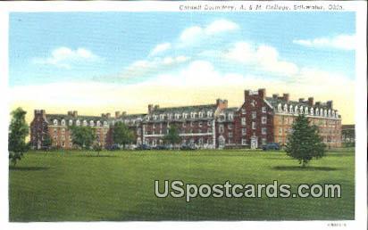 Cordell Hall, A & M College - Stillwater, Oklahoma OK Postcard