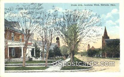 Nobie Ave - Guthrie, Oklahoma OK Postcard
