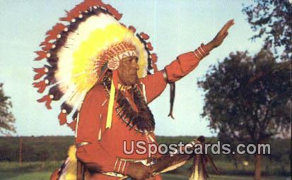 Red Man - Greetings from, Oklahoma OK Postcard