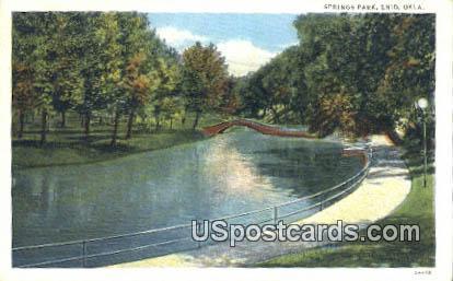 Springs Park - Enid, Oklahoma OK Postcard