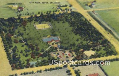 City Park - Altus, Oklahoma OK Postcard