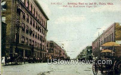 2nd Street - Tulsa, Oklahoma OK Postcard