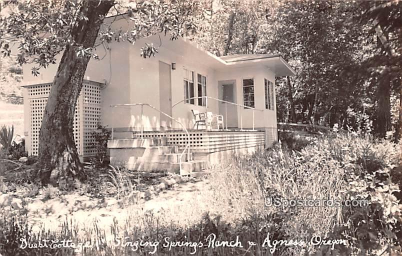 Guest Cottage - Agness, Oregon OR Postcard